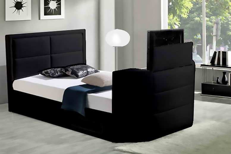 £399 instead of £939.99 for a king size wireless TV bed frame, £449 for super king from Wowcher Direct - save up to 58% + DELIVERY INCLUDED!