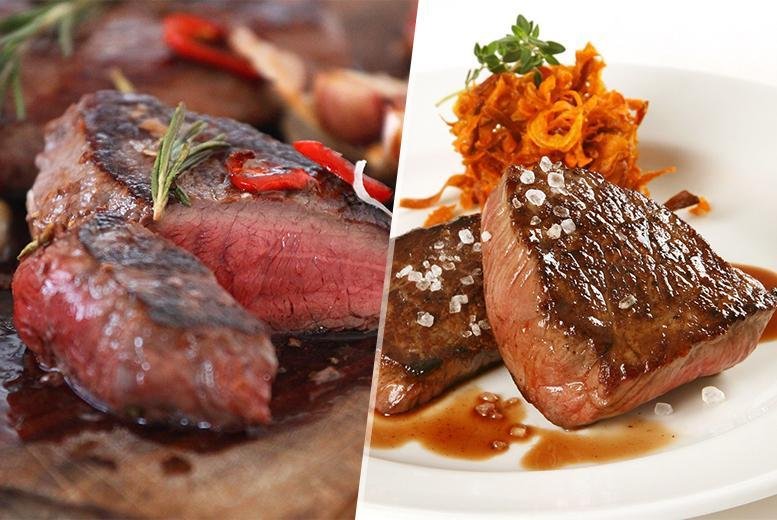 £29 instead of £58 for a 22-piece gourmet steak box including 2 rib eye steaks, 2 rump steaks, 6 steak burgers and much more - save 50%