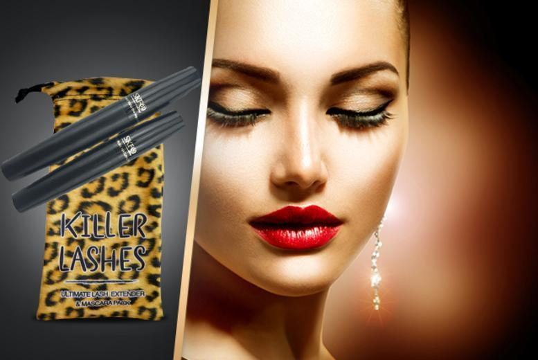£8 (from Look Good Feel Fabulous) for a 'Killer Lashes' mascara and brush-on fibre lash extender set, £14 for 2 - save up to 73% + DELIVERY INCLUDED!