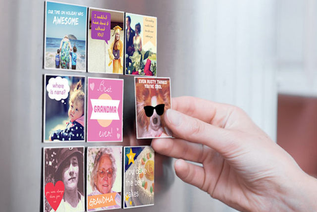 nine personalised photo magnets shop wowcher
