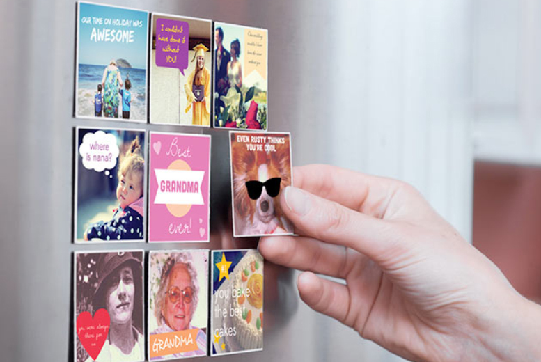 £7 (from Sticky9) for nine medium personalised Instagram photo magnets, £9.99 for large or £32 for large magnets in a beautiful wall frame - save up to 30%