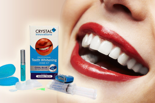 £19.99 instead of £129.99 (from Crystal Innovations) for a peroxide-free home teeth whitening kit - brighten your smile and save 85%