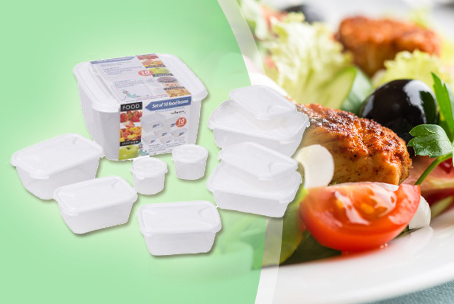 £9.99 instead of £20.39 (from Plastic Box Shop) for a 10-piece plastic food container set - store your food and save 51%