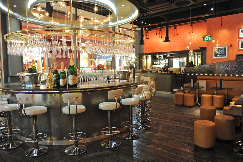 £24 for a light lunch and Champagne for 2 at Searcy's Champagne Bar from Buyagift