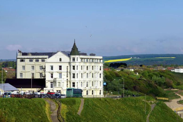 £59 (at The Clifton Hotel, Scarborough) for a 1-night stay for 2 with 3-course dinner, wine, afternoon tea, breakfast and late checkout, £99 for 2 nights - save up to 46%