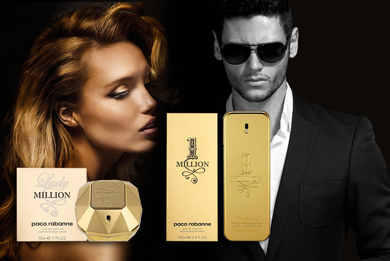 £35.99 instead of £64 for a 50ml bottle of Paco Rabanne 1 Million EDT for men, £39.99 for a Lady Million EDT for women from Wowcher Direct - save up to 40%