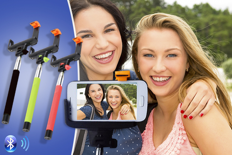£8 instead of £39.99 (from Emyub) for an all-in-one extendable selfie stick with a built-in Bluetooth button - choose from 4 colours and save 80%