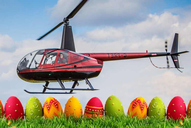 £59 instead of £99 for a 30-minute Easter helicopter flying experience including a certificate with Flying Pig Helicopters, London - save 40%