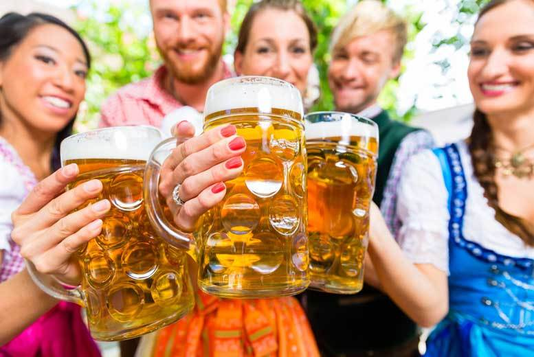 £13 instead of £26 for two tickets to Bierfest with German wine and Schnitzel at a choice of eight locations from London Oktoberfest  save 50