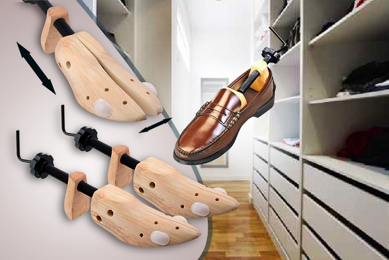 £7.99 instead of £17 (from Zoozio) for two wooden shoe stretchers - save 53%
