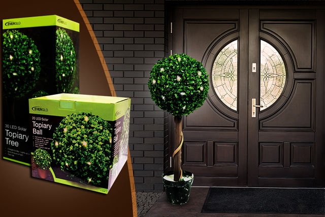 Solar Powered Topiary Ball Or Tree Shop Wowcher