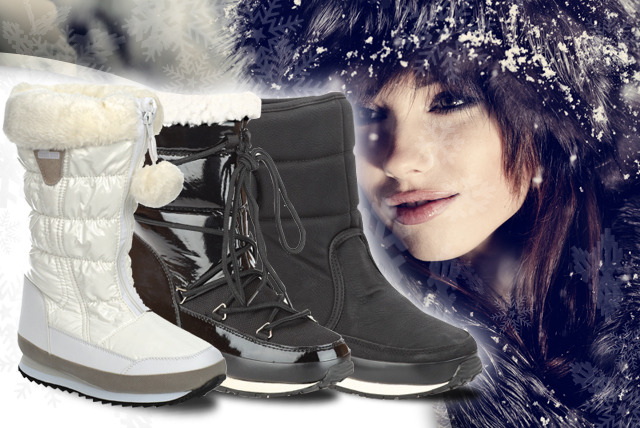 £26.99 instead of £70.01 (from Mrs Marcos) for a pair of white snow boots, or £29.99 for classic black or arctic low black - save up to 61%