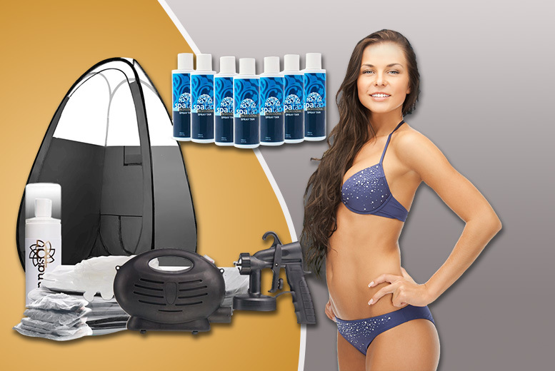 £99 instead of £299 (from Spray Tan Pro) for a home spray tanning kit inc. 7 x Spatan tan solutions and a pop-up spray tan tent - save 67%