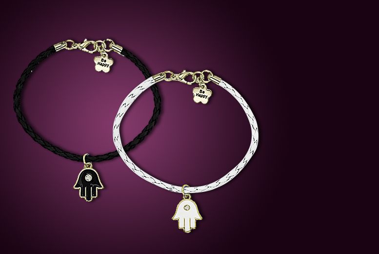 £6 instead of £49.98 (from Your Ideal Gift) for a pair of crystal 'Be Happy' bracelets - save 88%