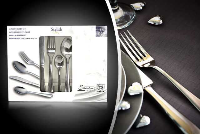 £17.99 instead of £34.99 (from Easygift Products) for a stylish 16-piece cutlery set - dine in style and save 49%