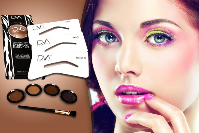 £9.99 instead of £30 (from DVA Beautique) for a semi-permanent eyebrow kit inc. stencils, brush and powder in a choice of colours - save 67%