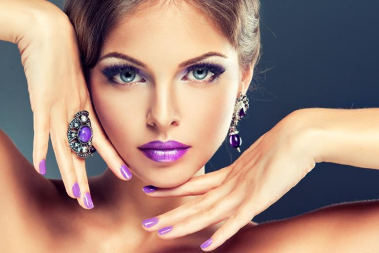 £14 instead of up to £32 for a professional Gelish manicure, eyebrow shape and tint at Jade @ Talking Heads, Newcastle-under-Lyme - save up to 56%