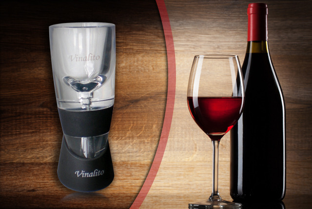 £15 instead of £23.94 for the Vinalito wine aerator from Wowcher Shop - save 37% + DELIVERY INCLUDED