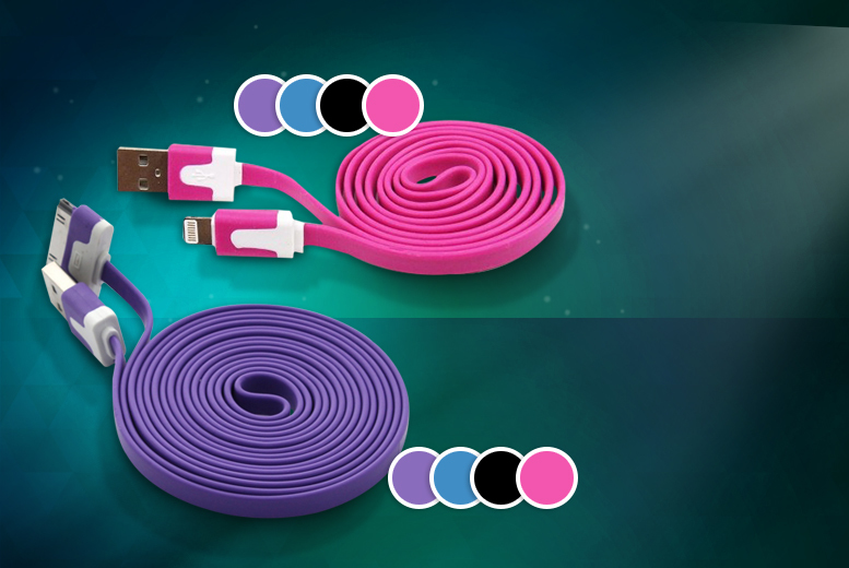 £5 instead of £19.99 (from Emyub) for a 3-metre 'anti-tangle' iPhone cable - choose from 4 colours and save 75%