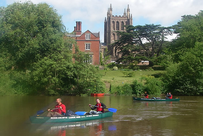 £19 instead of £47 for up to 7 hours' canoe hire for 2 people, £22 for 3 or £25 for 4 from Ross-on-Wye Canoe Hire - save up to 60%