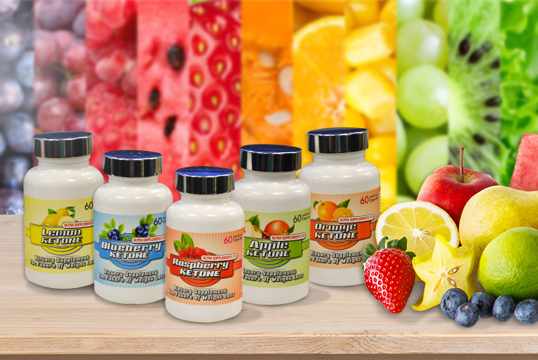 £17.99 instead of £59.99 for a 3-month* supply of rainbow ketones - choose from 5 flavours & save 70% + DELIVERY INCLUDED!