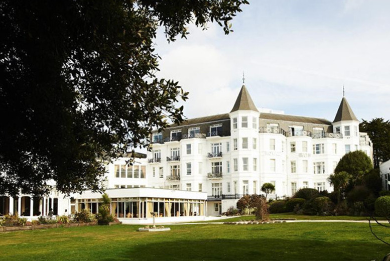 £79 for a 1-night Bournemouth stay for 2 inc. dinner, wine, b'fast & spa access, £109 with afternoon tea & a treatment each at the Royal Bath Hotel - save up to 50%