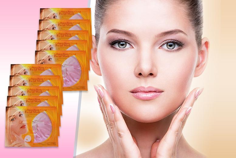 £7 instead of £120 (from Eden Organic Care) for 10 collagen and red wine face masks - save 94%