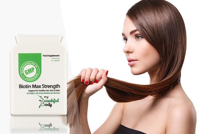 £7 instead of £31.99 (from Real Protein) for 120 super-strength biotin hair growth capsules - save 78%