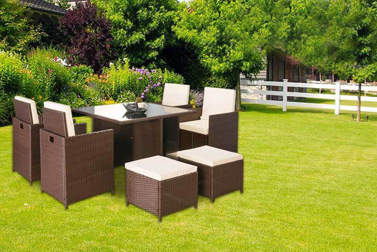 Napoli 9pc Rattan Cube Set - 2 Colours!