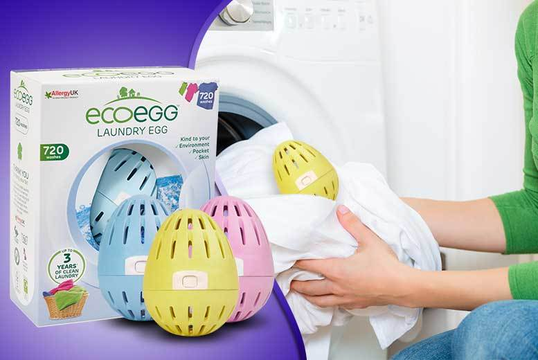 £9.99 instead of £19.99 (from EcoEgg) for a 720-wash laundry egg - choose from three fresh scents and save 50%