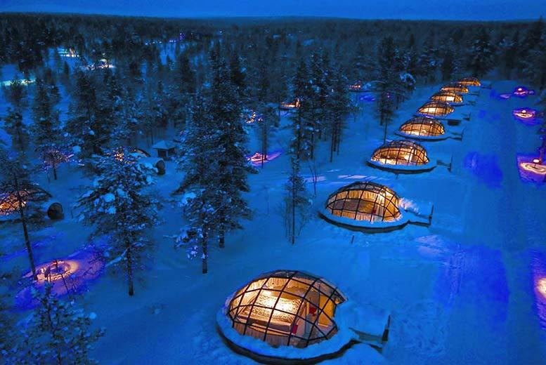 From £499pp (from Bargain Late Holidays) for a two-night Finland break with a glass igloo stay and flights, from £649pp for 3 nights, from £799 for 4 nights - save up to 29%