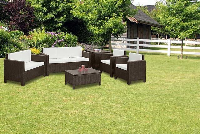 7 seater rattan garden furniture set 2 colours