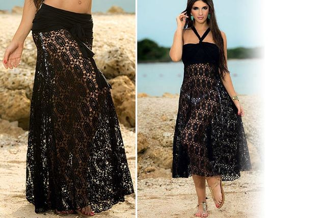 2 in 1 convertible beach dress