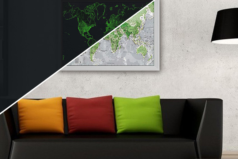 £11.99 instead of £17.95 for a glow in the dark world map - watch the world come alive tonight & save 33% + DELIVERY INCLUDED!