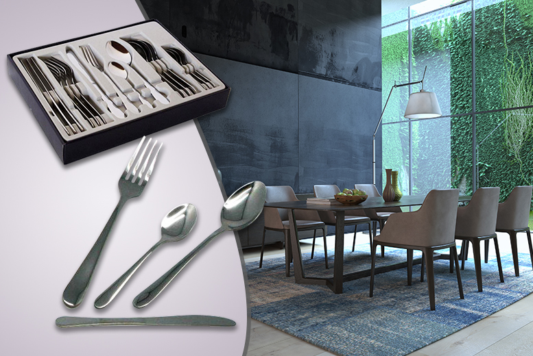 £6.99 instead of £21 (from Zoozio) for a 16-piece stainless steel cutlery set, £11.99 for a 24-piece set or £16.99 for a 40-piece set - save up to 67%