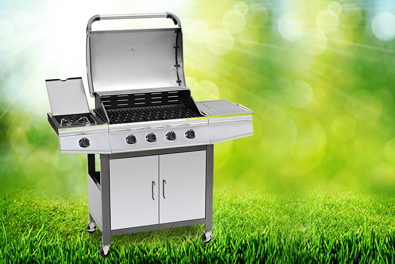 £159 instead of £499 for a black Fireplus gas barbeque with 4 main burners and one side burner from Wowcher Direct - save 68%
