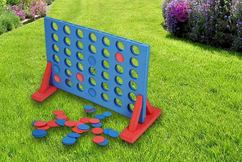£14 instead of £36 (from Shope) for a giant foam outdoor connect-4 - play the game and save 61%