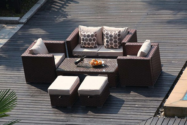 Garden Furniture Colours 6 seater rattan garden furniture set - 3 colours!