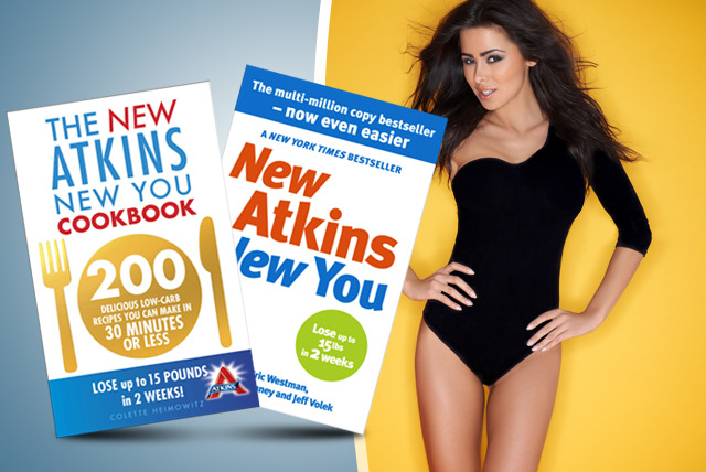 £9.99 instead of £18.98 (from Random House) for a 'New Atkins New You' book bundle inc. diet guide & cookbook - save 47%