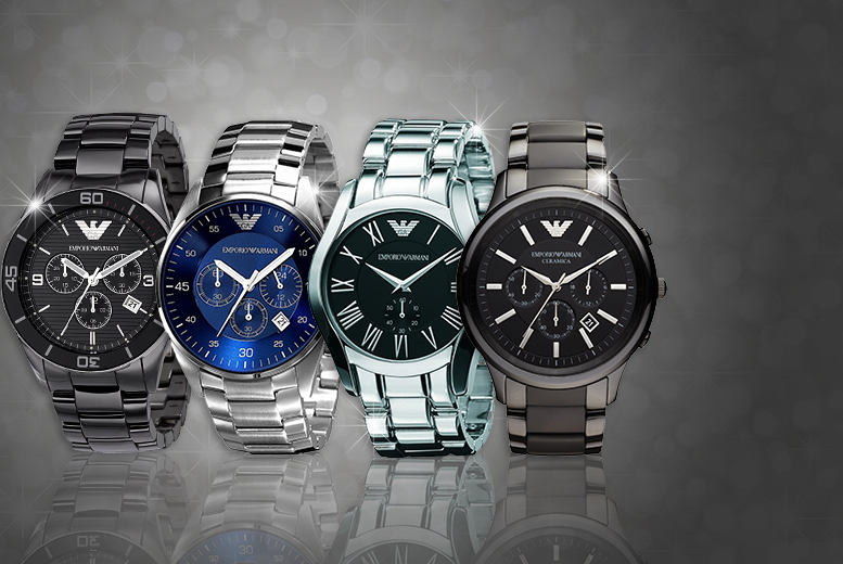 £175 (from Gray Kingdom) for a silver men's Emporio Armani watch or £175 for a black Armani watch - save up to 60%