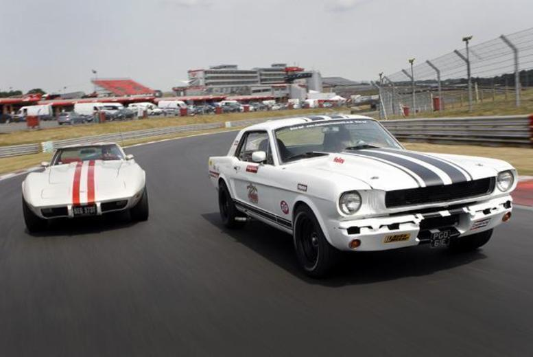 £39 instead of £79.99 for a junior Mustang driving experience at Rockingham with Classic American Muscle - save 51%