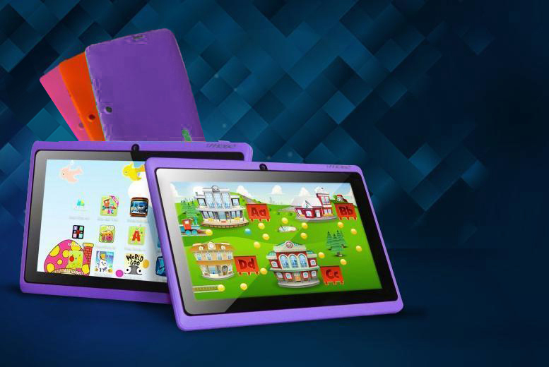 £35 instead of £109.99 for a 7-inch dual core touchscreen Android tablet for kids from Wowcher Direct - choose from 4 colours & save 68%