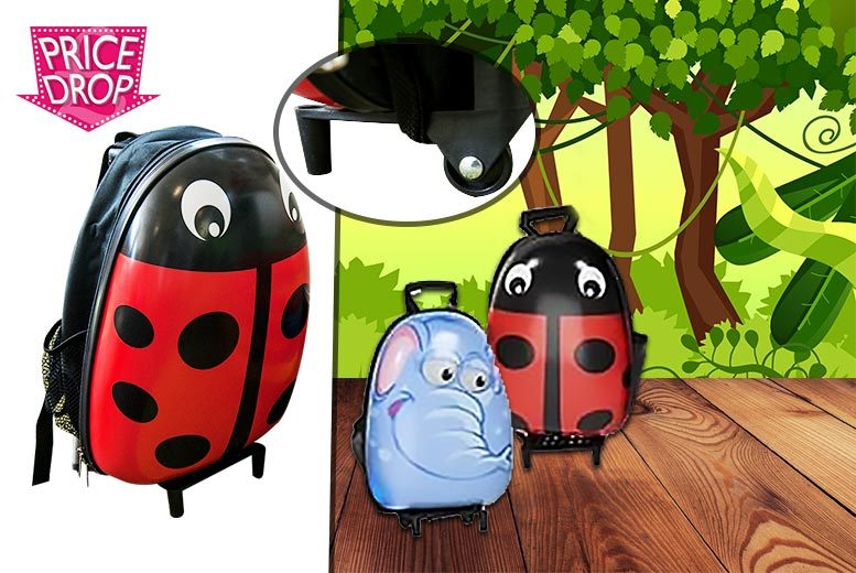 £12.99 instead of £28 (from Shopperheads) for a kids' animal suitcase on wheels  choose from two fantastic designs and save 41