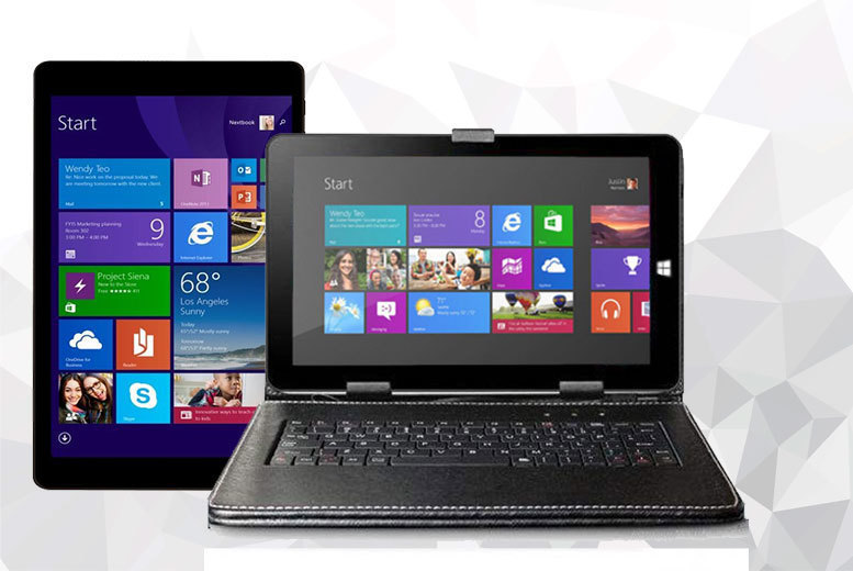 """£79 instead of £289.99 (from J & Y) for an 8'' tablet, £84 for an 8"""" tablet with a combined keyboard case - save up to 73%"""