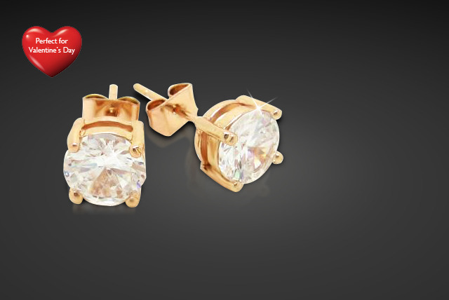 £9 instead of £40 (from Cian Jewels) for a pair of rose gold plated solitaire earrings with Swarovski element crystals – save a sparkly 78%