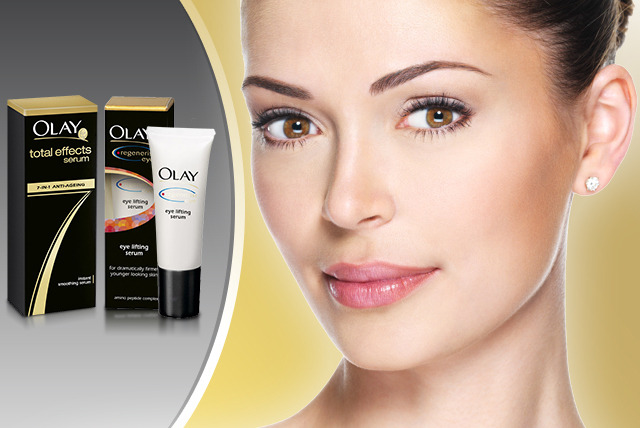 £9.99 instead of up to £14.95 for Olay 7-in-1 Total Effects Instant Smoothing serum or Olay Regenerist Eye Lifting serum from Wowcher Shop - save up to 33%
