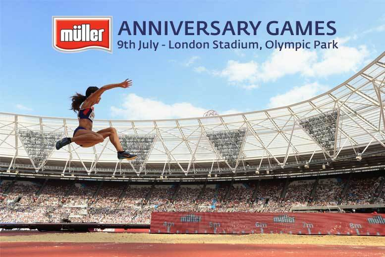 £12 for a concession ticket to the Müller Anniversary Games at Olympic Park, £20 for an adult ticket, £40 for a family ticket from British Athletics - save up to 64%