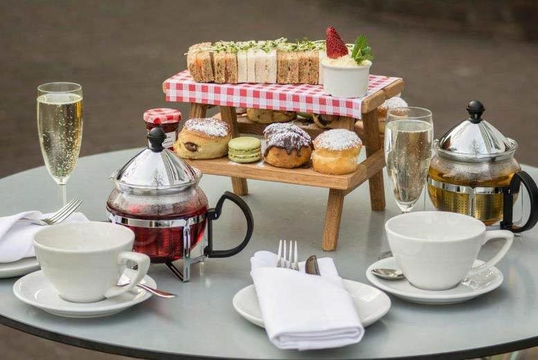 £28 instead of £72.50 for an afternoon tea for two with a bottle of Prosseco at the Urban Meadow Café & Bar, Doubletree By Hilton Hyde Park - treat yourself and save 61%