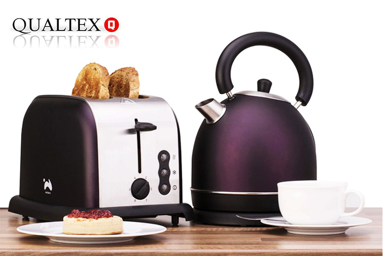 £36 instead of £98.99 (from 4YourHomeUK) for an Ovation toaster and kettle set  choose from three colours and save 64