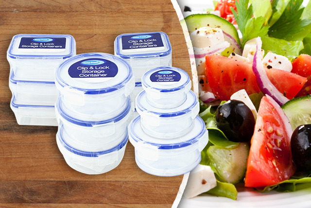 £5.99 instead of £19.99 (from Urshu) for a 12-piece Clip & Lock container set - store your food and save 70%